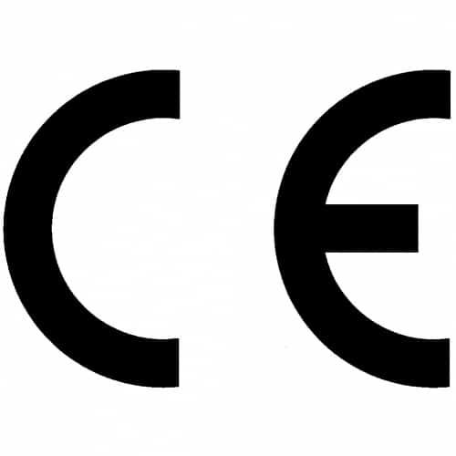 CE-Logo in schwarz.