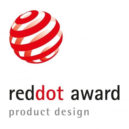 Logo der Auszeichnung Red Dot Award im Bereich Produkt Design.