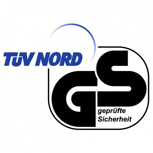 TÜV Nord - geprüfte Gerätesicherheits-Logo in blau-schwarz.