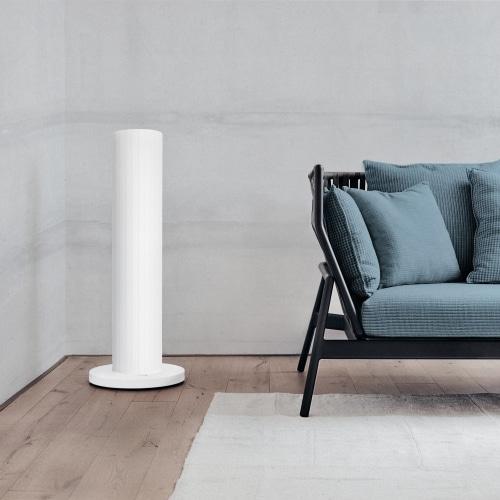 Die Pipewave als Standmodell in einem kühlen Wohnzimmer - auch als Zusatzheizung geeignet.