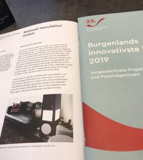 Zeitschrift vom Innovationspreis Burgenland über die kreativsten Köpfe des Burgenlandes 2019.